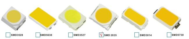 Различные модели светодиодов