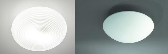 Цельнолитые светильники из стекла и пластика