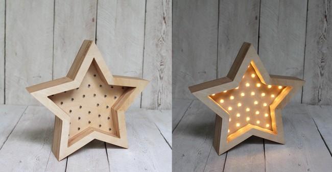 Готовая звезда из фанера со светодиодами
