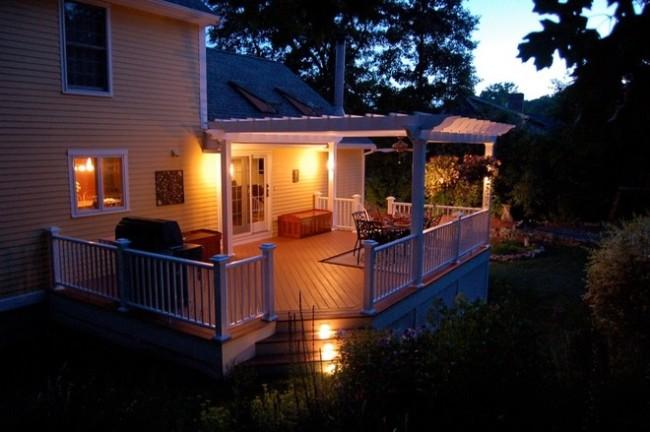 Освещение ночной террасы