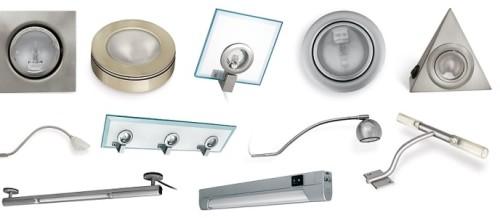 Разнообразие маленьких светильников на батарейках