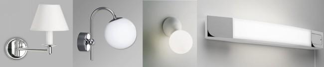 Применяемые настенные светильники