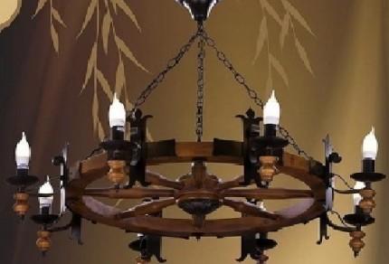 Самодельный деревянный светильник