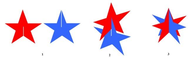 Способ сборки объемной звезды из заготовок