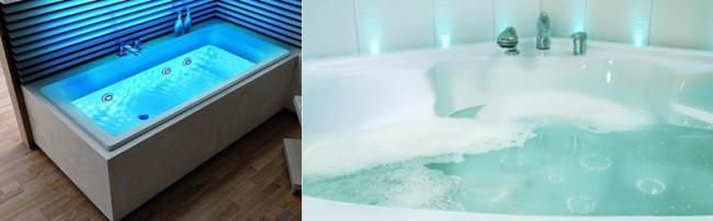 Подсветка встроенная в ванную