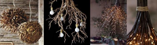 Самодельные деревянные светильники различной гиометрии