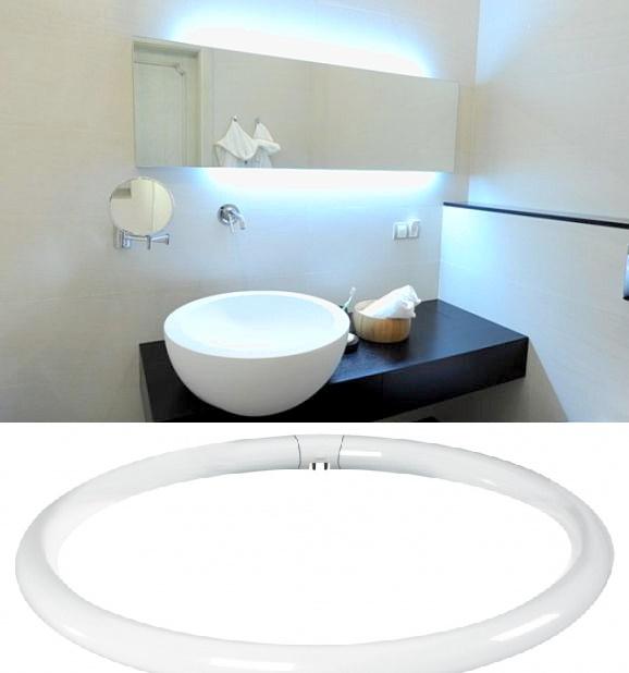 Кольцевидная лампа для зеркала