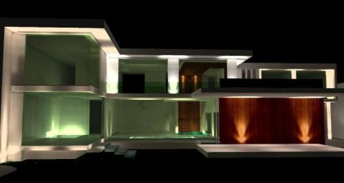 Вариант освещения наружной части здания