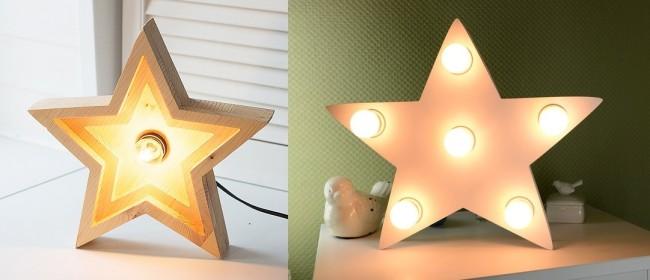 Светильник в форме звезды