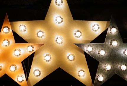 Вариант светильников в форме звезды
