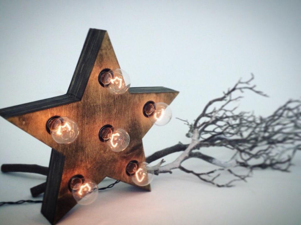 Звезда с лампочками для фотосессии