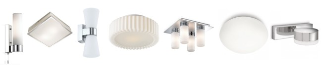 Варианты светильников для ванной