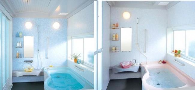 Освещение в ванной с окном