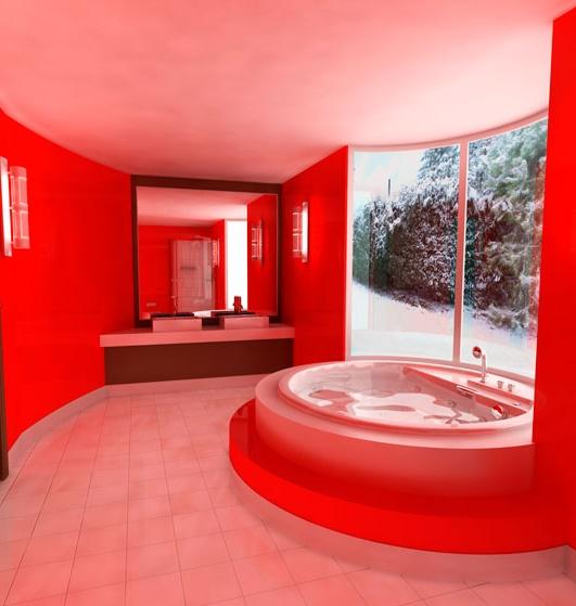 Искусственные окна с подсветкой для ванной