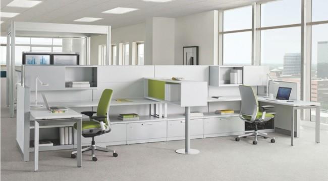 Естественное освещение офисного помещения