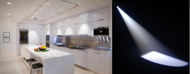 Внешний вид помещения с направленным типом подсветки