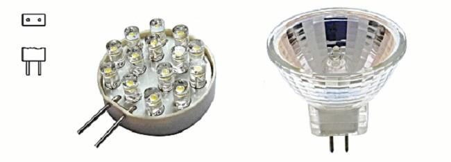 Цоколь маломощных галогеновых ламп