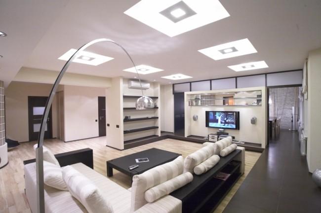 Пример общего освещения в помещении