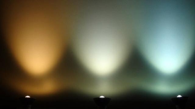 Свет от различных светодиодных ламп