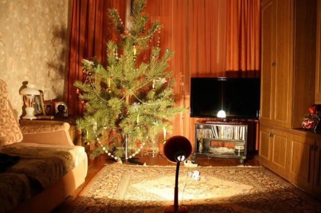 Пример освещения помещения лампой накаливания