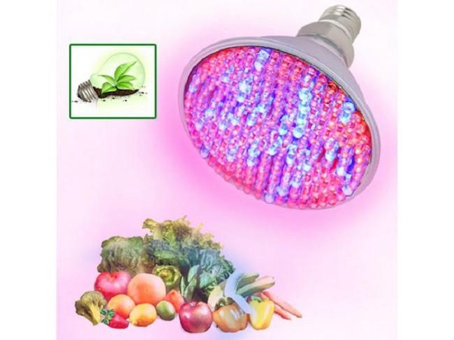 Пример свечения светодиодной лампочки