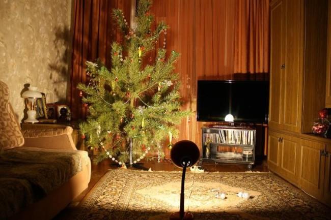 Пример освещения помещения светодиодной лампой