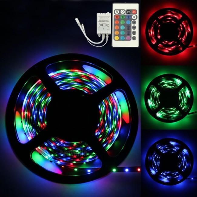 Внешний вид разноцветных светодиодных лент