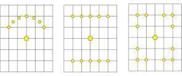Несколько вариантов размещения точечного освещения