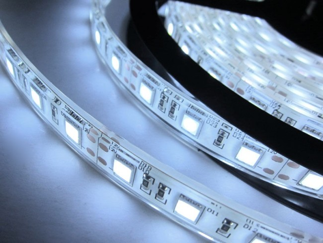 Внешний вид силиконовой светодиодной ленты