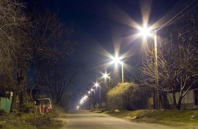 Пример уличного освещения деревни
