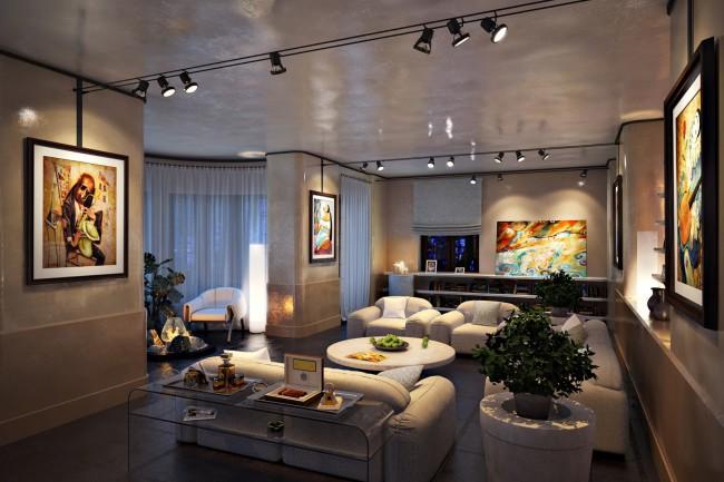 Пример зонального освещения помещения