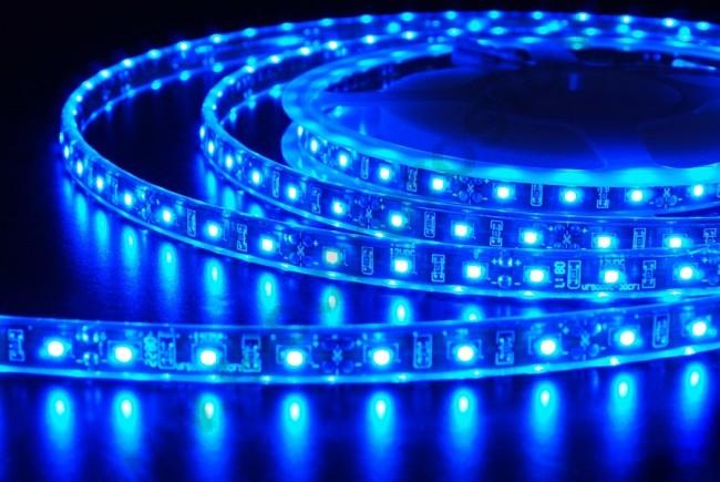 Пример свечения силиконовой светодиодной ленты