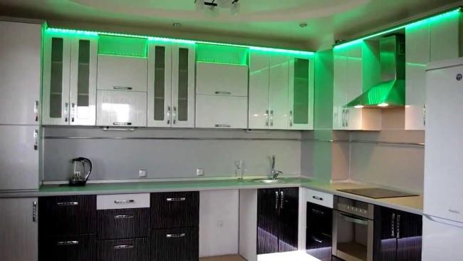 Подсветка кухонных шкафчиков