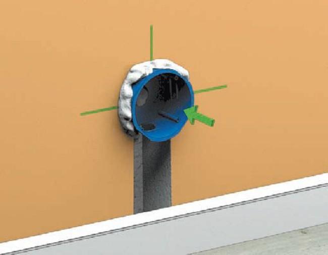 Пример коробки для установки встраиваемого светильника