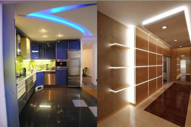 Подсветка в коридоре и кухне