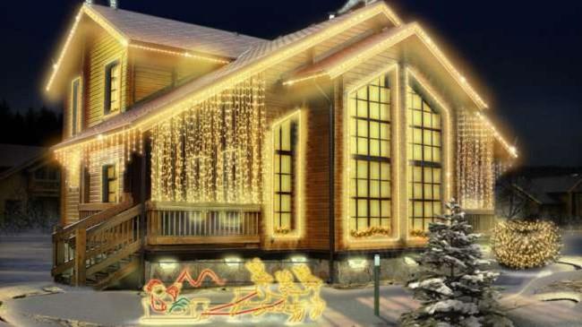 Дом со светодиодной подсветкой