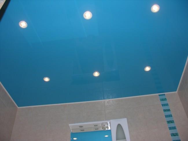 Пример установленных светильников