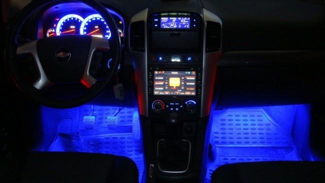 Подсветка внутри машины