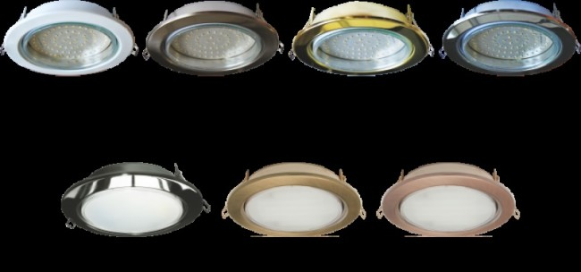 Пример встраиваемых светильников