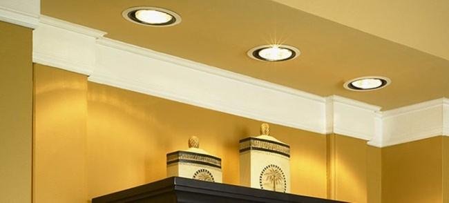 Пример подсветки точечными светильниками