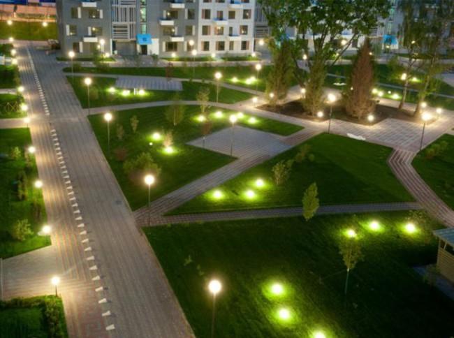 Освещение дворовой территории