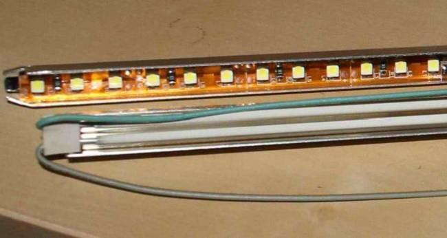 Подготовка светодиодной ленты