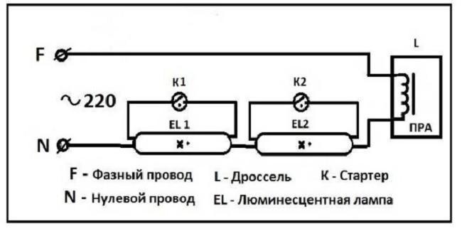 Пример подключения двух комплектов