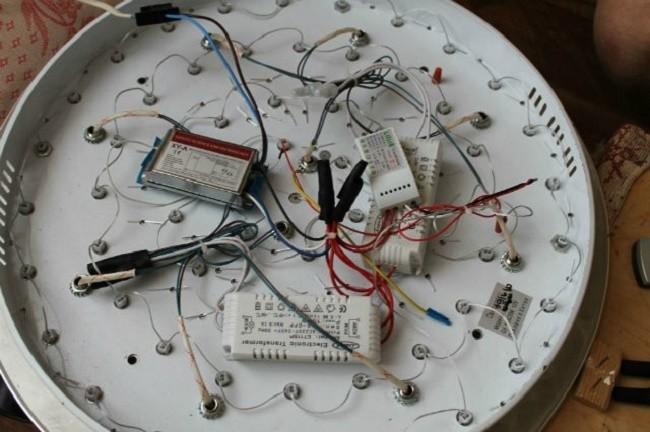 Внутреннее устройство светодиодной люстры