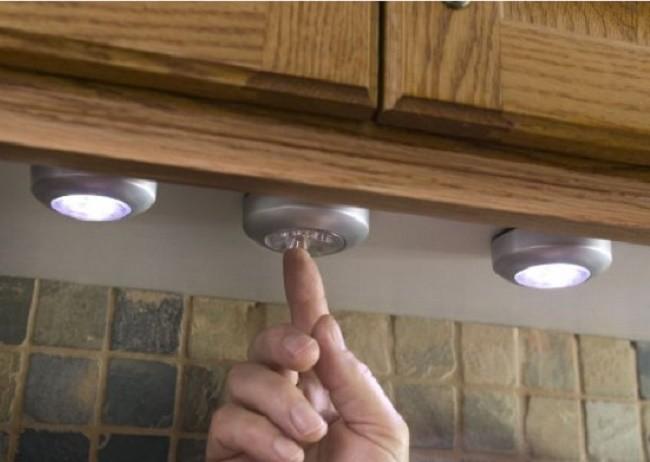 Внешний вид установленных светильников