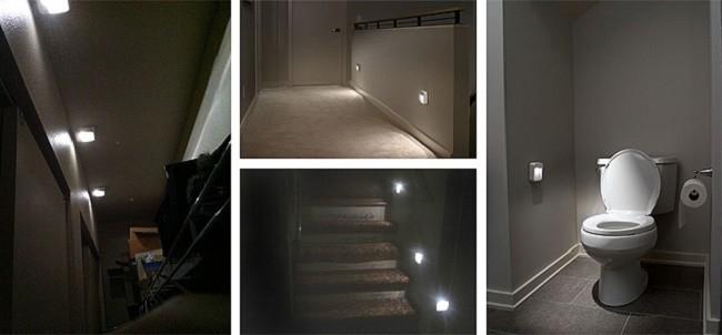 Автономные светодиодные светильники в квартире