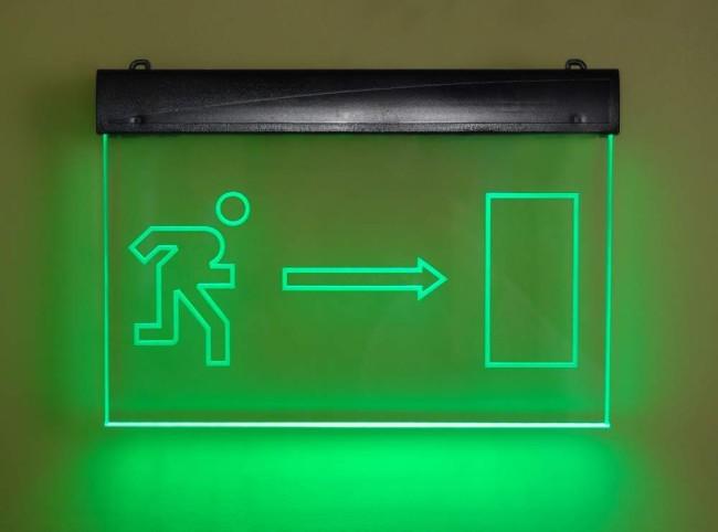 Указатель выхода с подсветкой
