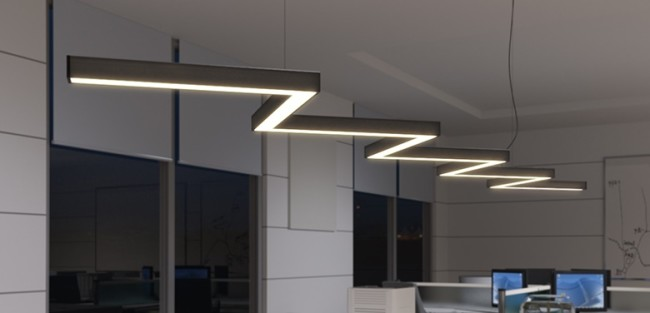 Внешний вид модульной системы из линейных светильников