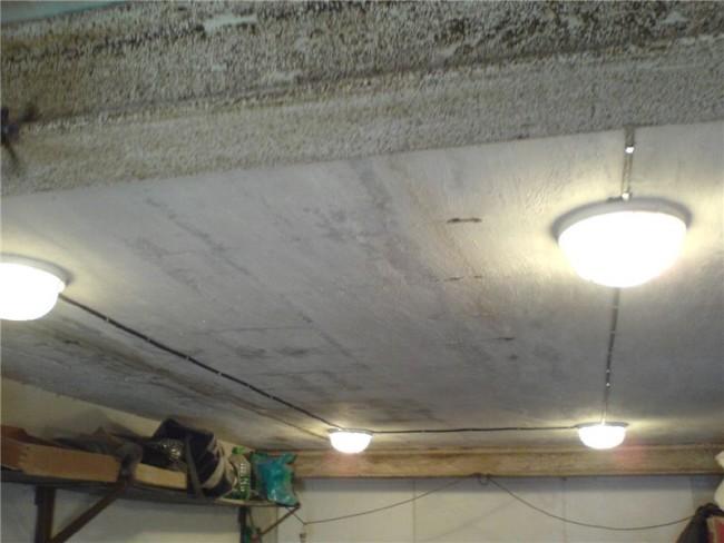 Пример освещения в гараже