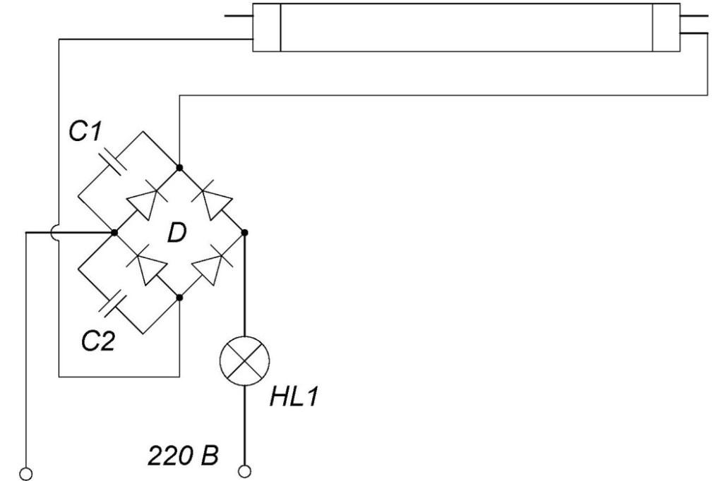 Схема подключения лдс лампы